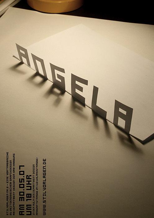 Stilvorlagen Ankündigungsplakat für Angela Lorenz