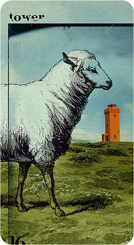 Tarot Karten - 16. Tower