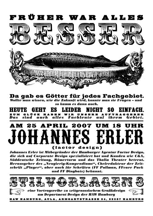 Stilvorlagen Ankündigungsplakat für Johannes Erler