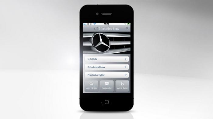 Mercedes-Benz Service iPhone App - Startseite