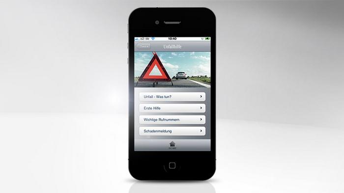 Mercedes-Benz Service iPhone App - Unfallhilfe