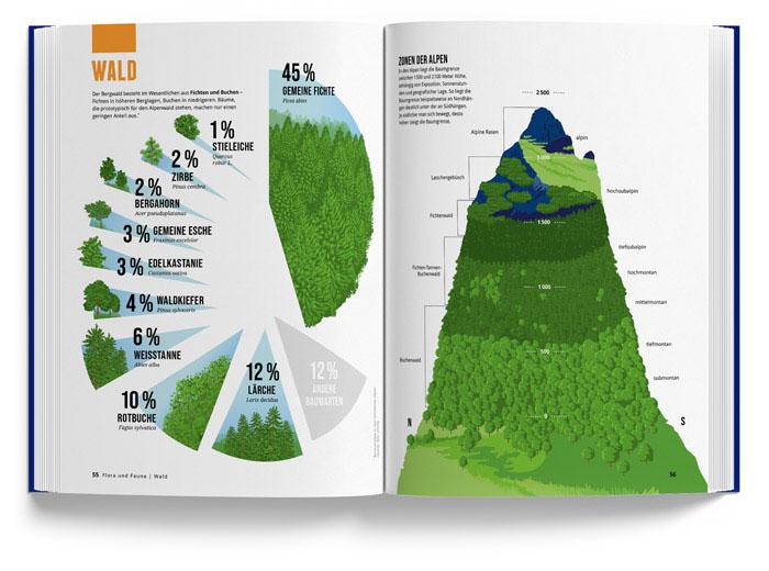 Alpenbuch vom Marmota Maps – Wald
